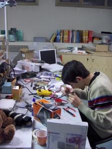 Nicholas Zambetti at his desk
